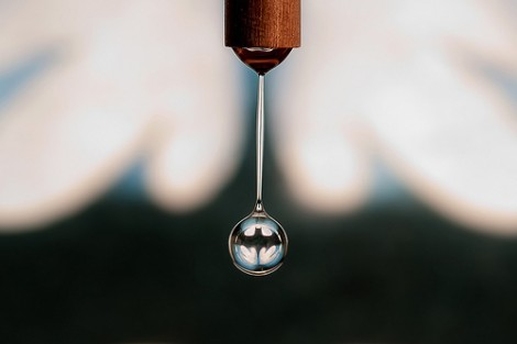 Batman Logo in a Drop of Water