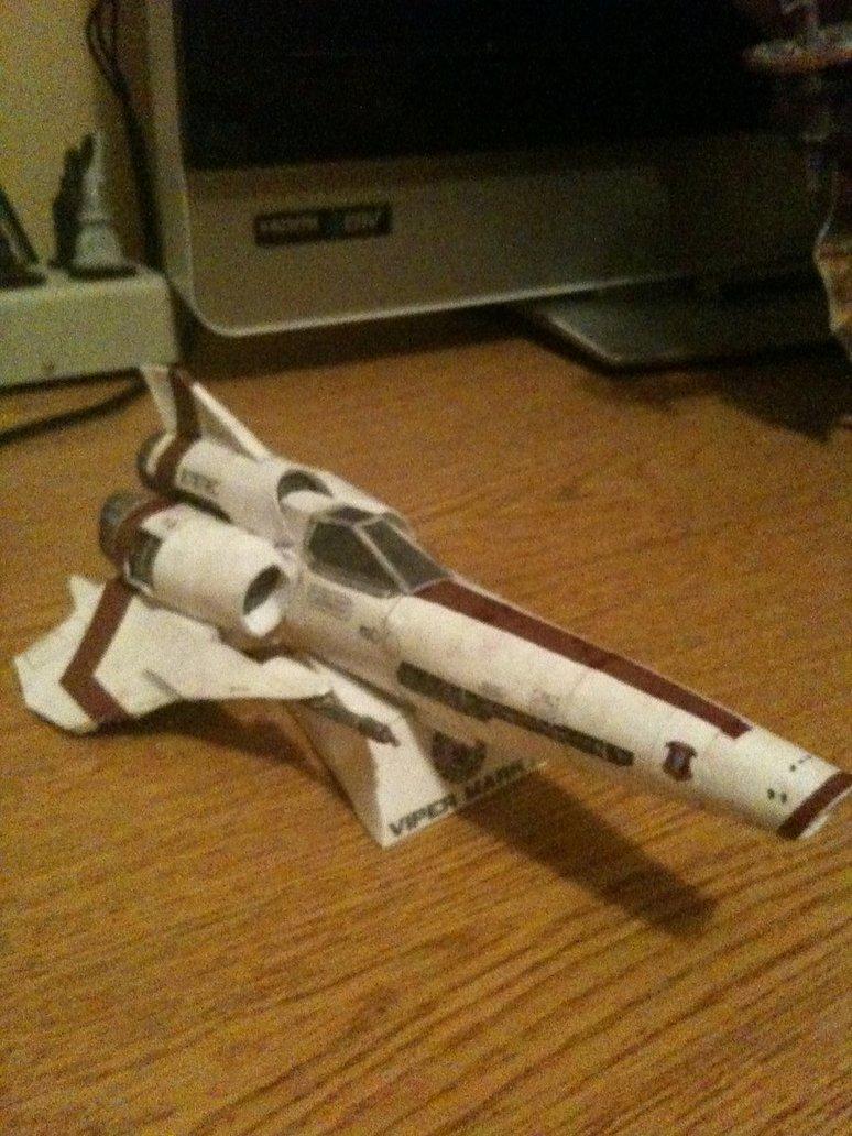 Battlestar Galactica Viper Papercraft Pic Global Geek News