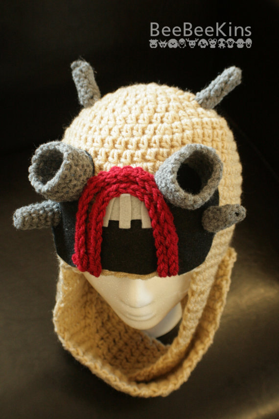 Crocheted Tusken Raider Star Wars Hat