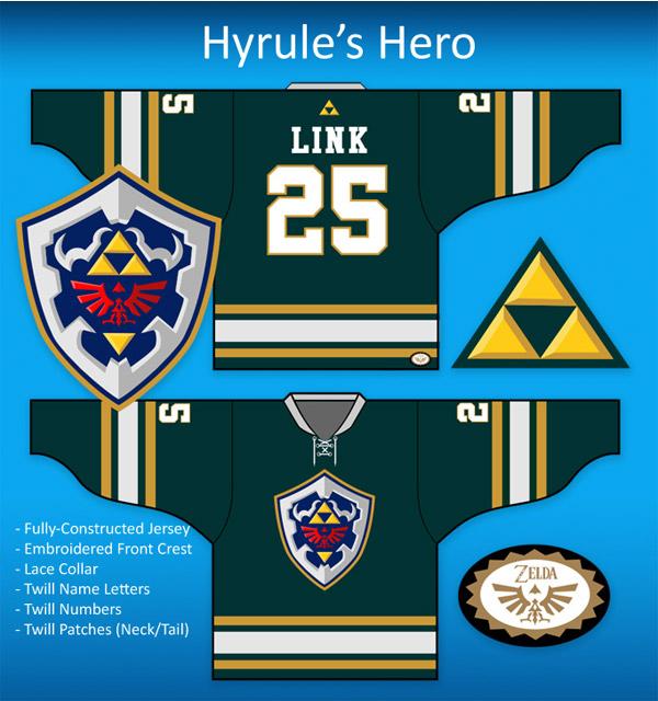 Custom Link Legend of Zelda Hockey Jersey