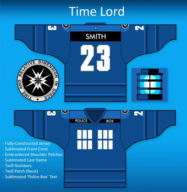Custom Time Lord Hockey Jersey
