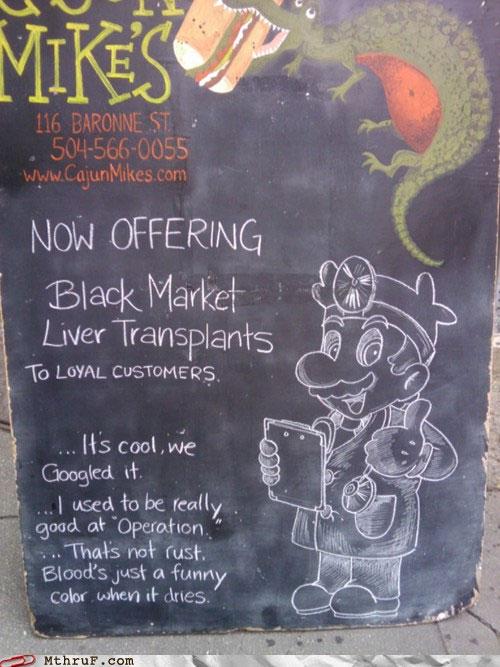 Dr. Mario Performs Black Market Liver Transplants