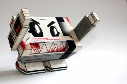Evil Nintendo NES Papercraft