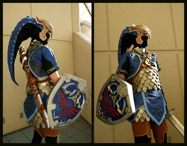 Legend of Zelda Twilight Princess Zora Armor Link Cosplay