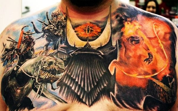 Lord of the Rings Chest Tattoo