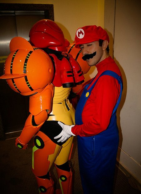 Mario Sexually Harasses Samus