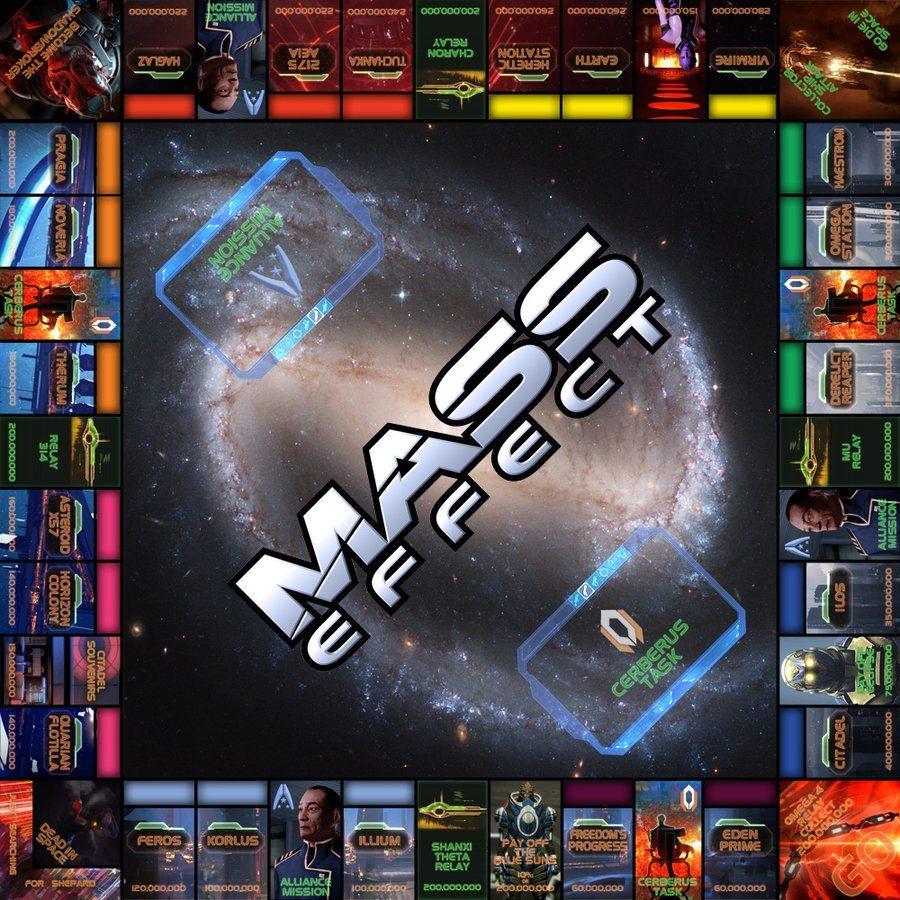 Mass Effect Monopoly Board