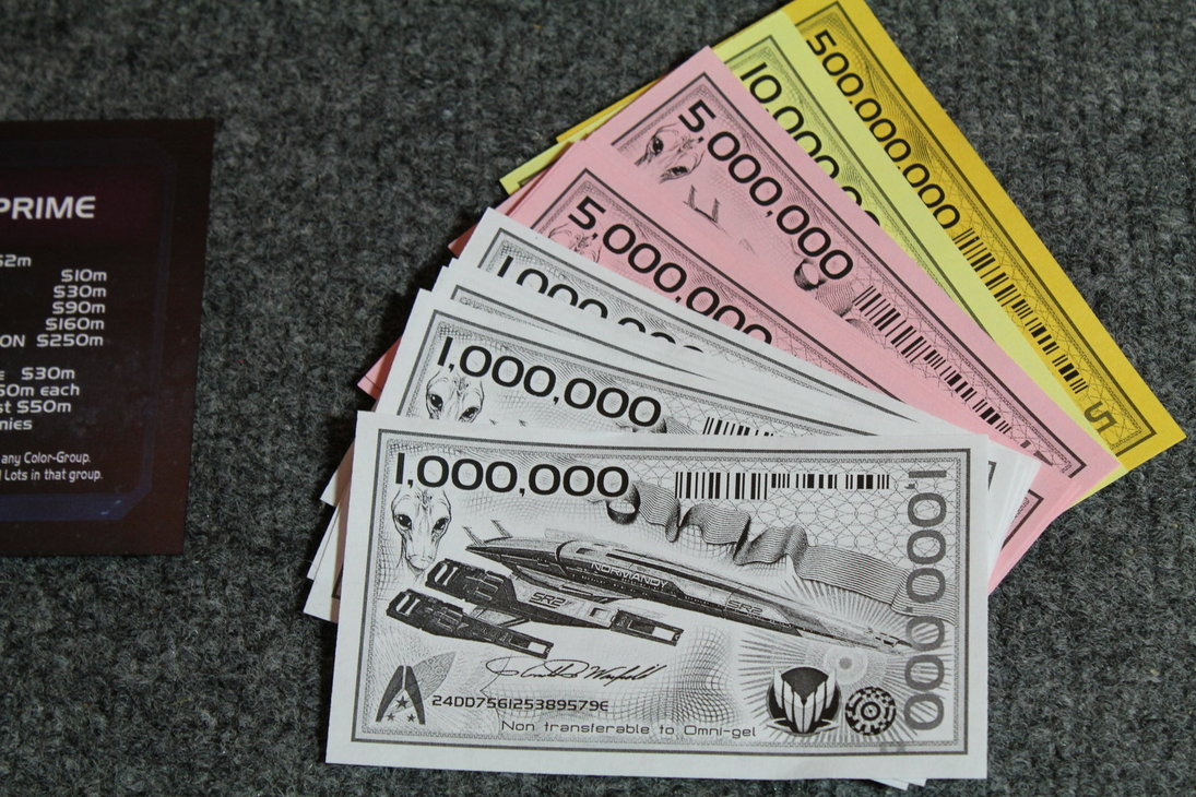 Mass Effect Monopoly Money