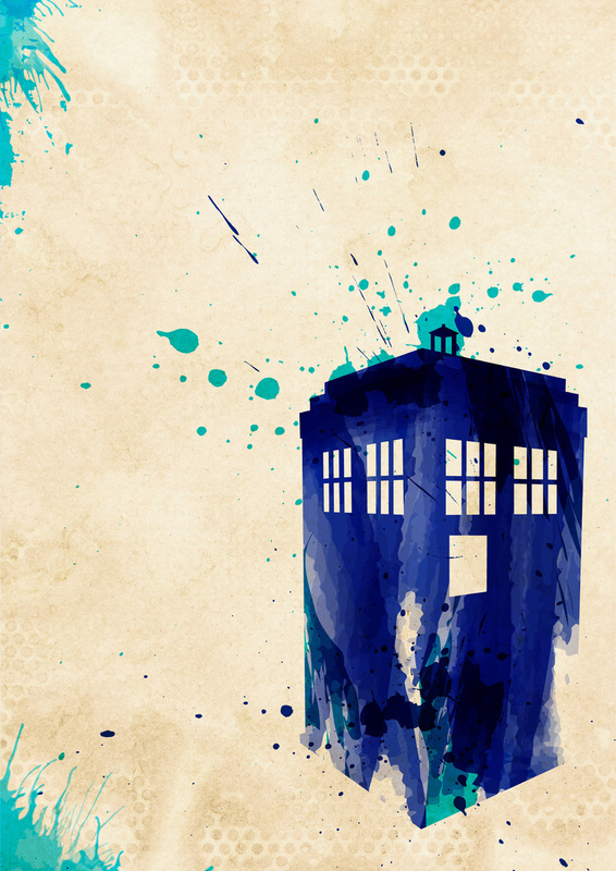 Rustic Doctor Who TARDIS Painting
