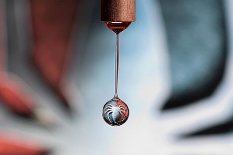 Spider-Man Logo in a Drop of Water