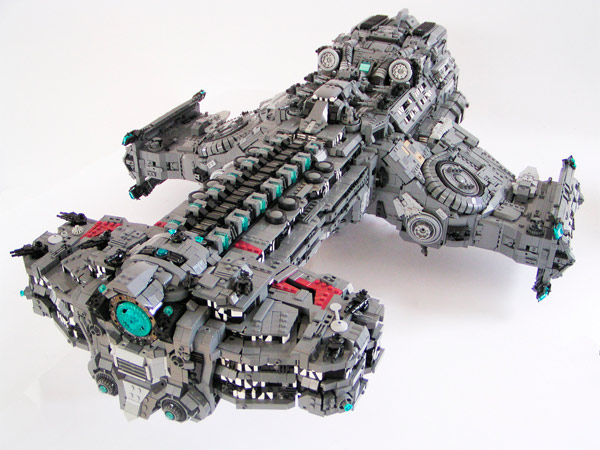Starcraft 2 Hyperion Battlecruiser Made in LEGO
