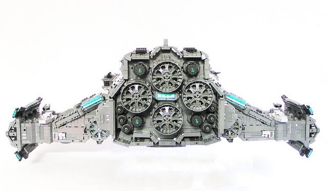 Starcraft 2 LEGO Hyperion Battlecruiser from Behind