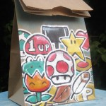 Super Mario Bros Power Ups Lunch Bag Art [pic]