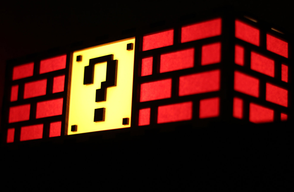 Super Mario Bros Question Block And Bricks Lamp Pic