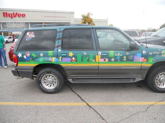 Super Mario Bros themed SUV