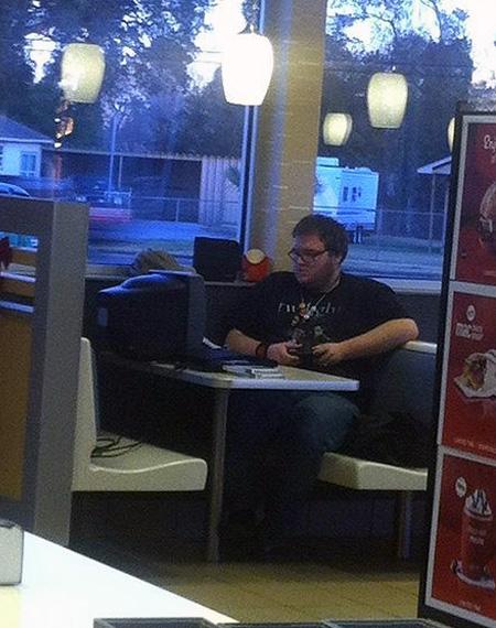 Video Game Addict Invades McDonalds