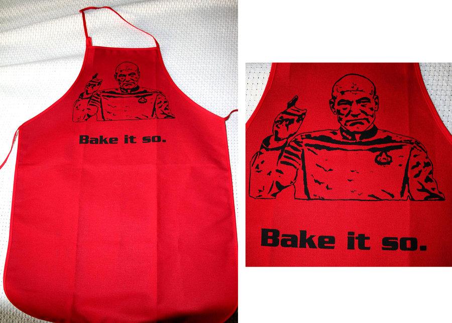 Captain Picard Bake It So Cooking Apron