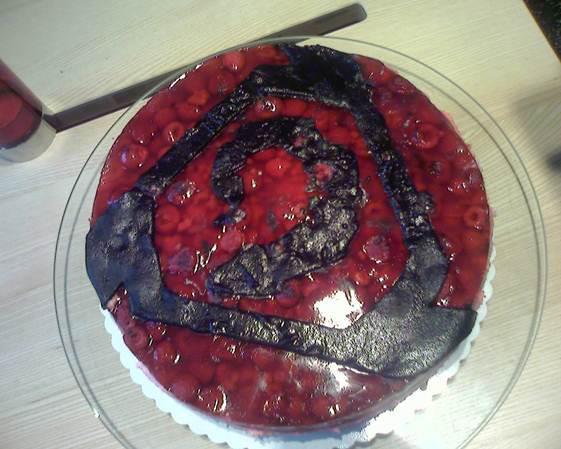 Command & Conquer Nod Logo Cake