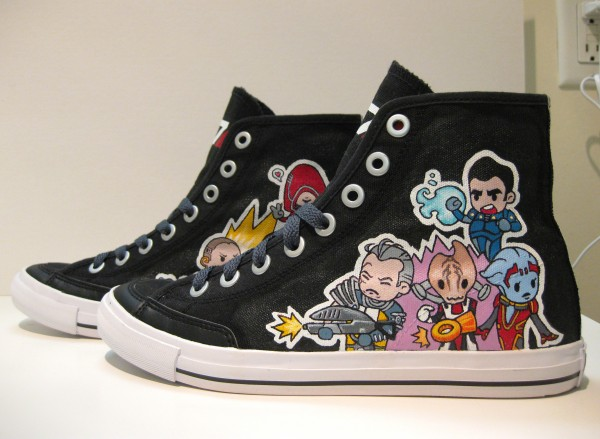 Custom Painted Mass Effect Sneakers
