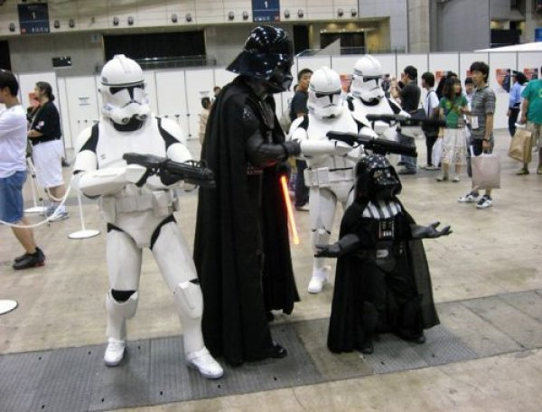 Darth Vader and Darth Vader Jr. Cosplay