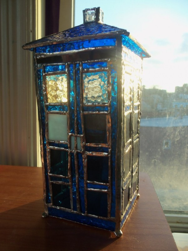 Doctor Who 3D Stained Glass TARDIS