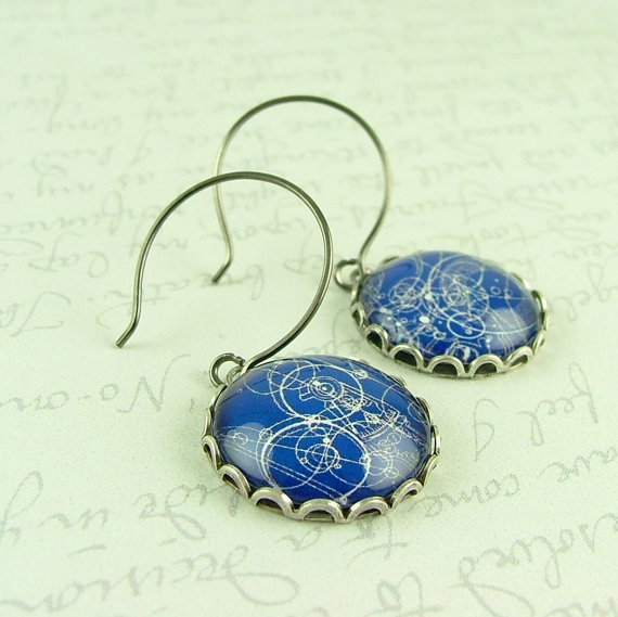 Doctor Who Gallifreyan Time Lord Earrings