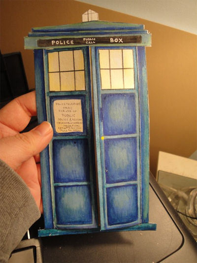 Doctor Who TARDIS Valentines Day Card