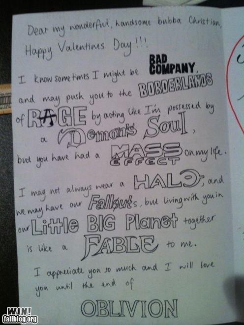 Epic Gamer Valentines Day Card