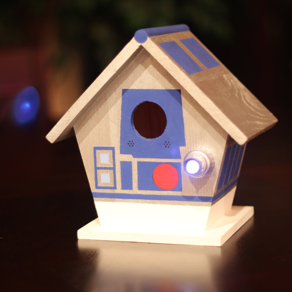 Hand Painted Star Wars R2-D2 Birdhouse