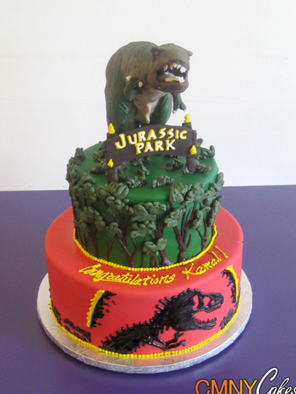 Amazing Jurassic Park Cake Pic Global Geek News