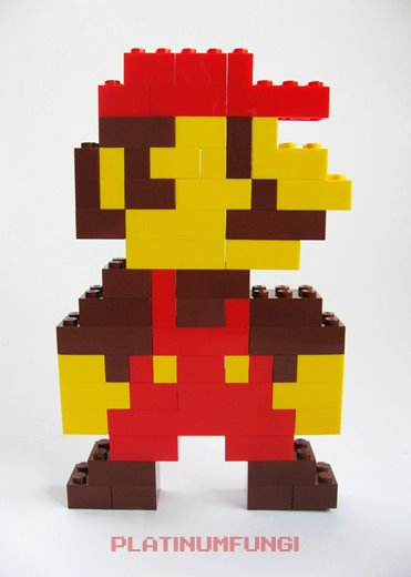Mario Made With Lego Bricks Pic Global Geek News