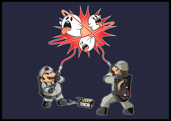 Mario and Luigi as Ghostbusters