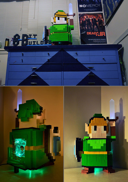 Minecraft Inspired Legend of Zelda Link PC Case Mod
