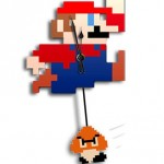 NES Mario 8-Bit Clock With Swinging Goomba Pendulum [pic]