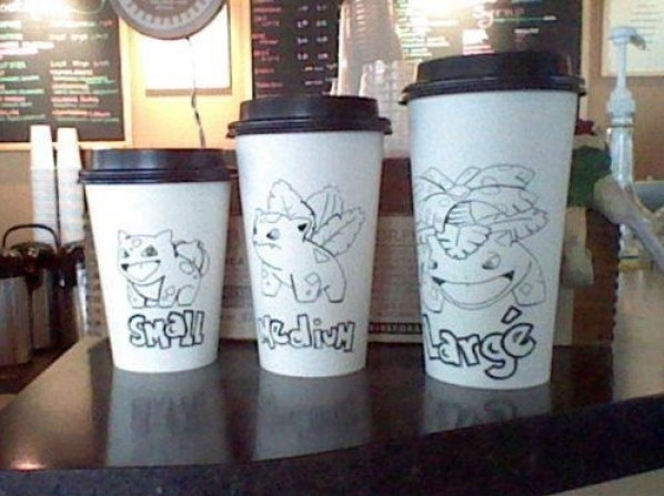 Pokemon Coffee Cup Sizes