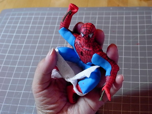 Spider-Man Fondant Figure