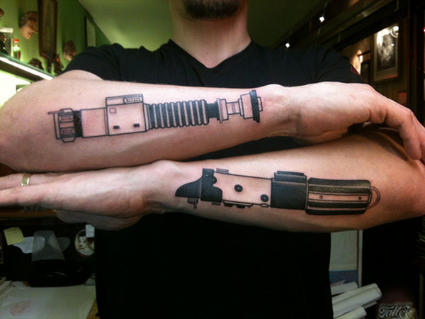 Star Wars Lightsaber Arm Tattoos
