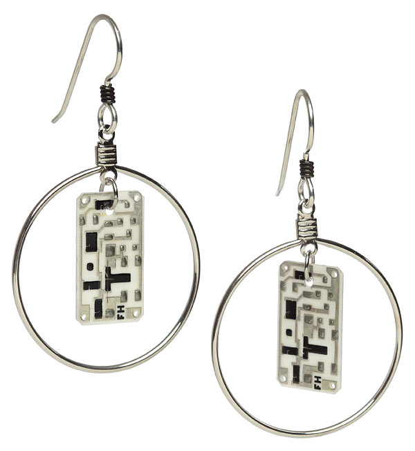 Transistor Sister Circuit Earrings