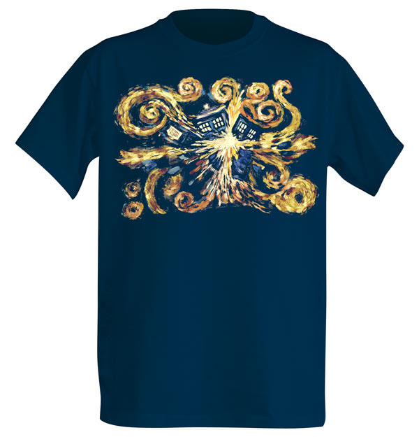 Van Gogh Exploding TARDIS Shirt