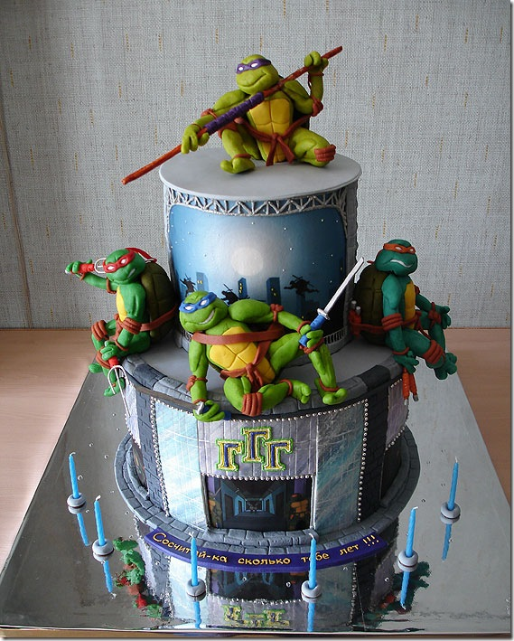 Amazing Teenage Mutant Ninja Turtles Cake