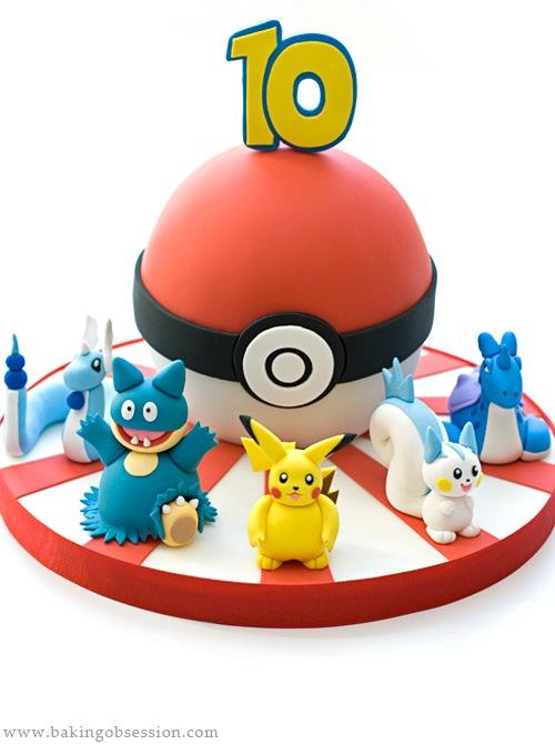 Awesome Pokemon Birthday Cake