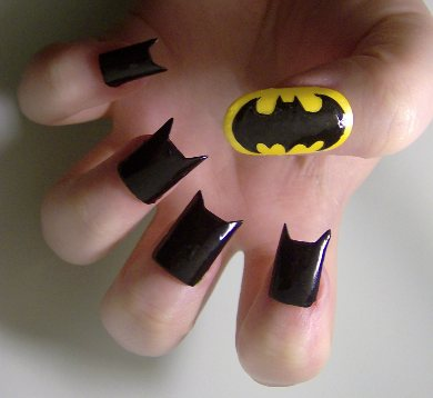 Batman Fingernails