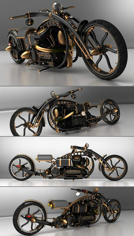 Custom Steampunk Motorcycle