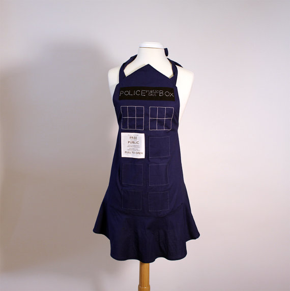 Doctor Who Female TARDIS Cooking Apron