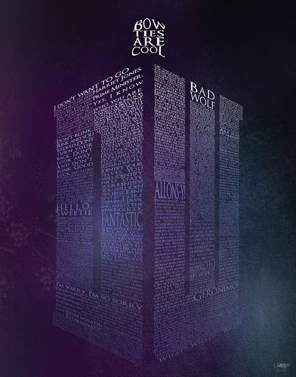 Doctor Who TARDIS Shaped Words Poster