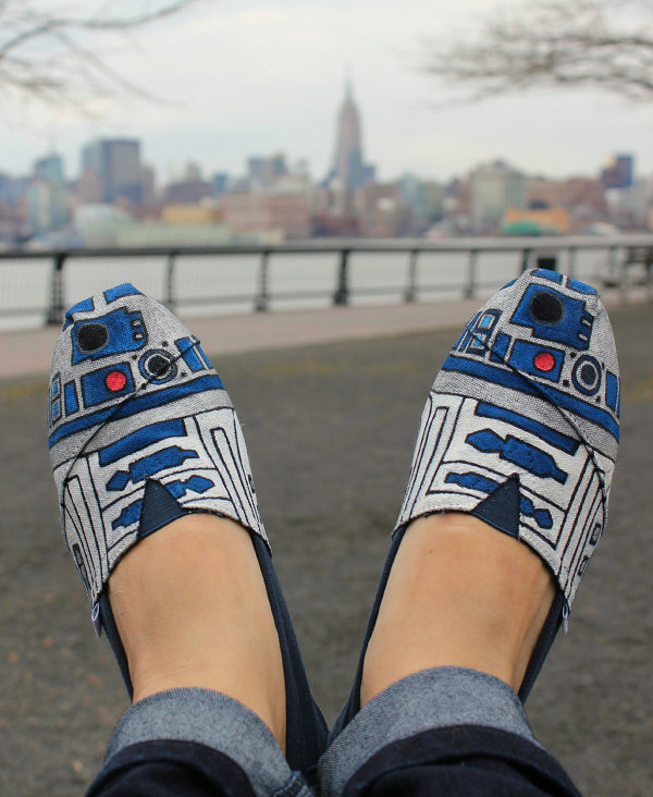 Hand Painted R2-D2 Shoes