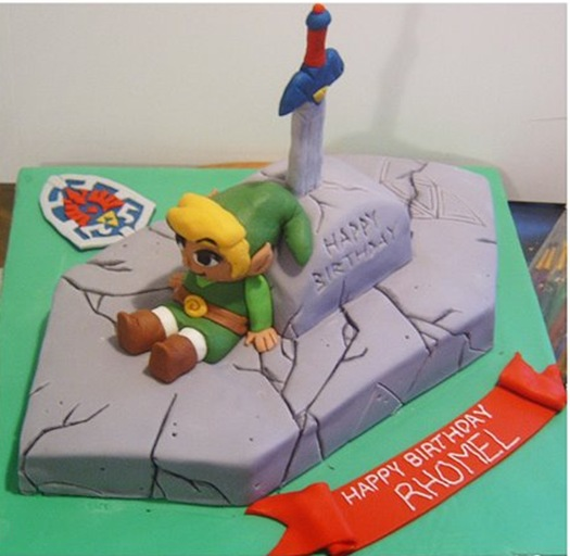 Cool Legend Of Zelda Birthday Cake Pic