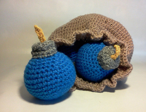 Amigurumi Zelda Pattern : Crochet zelda bomb bag pattern dancox for