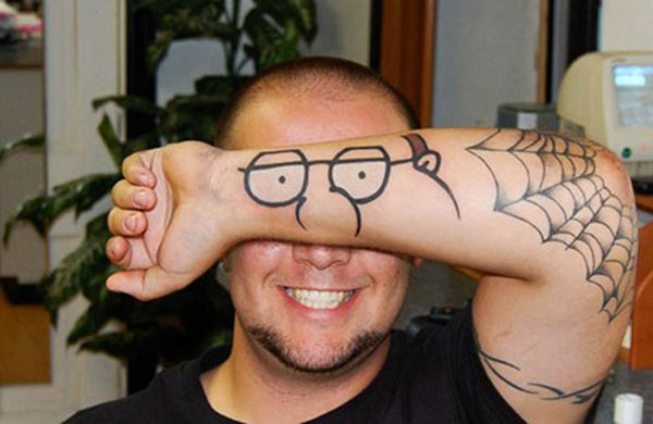 Peter Griffin Arm Tattoo and Cosplay