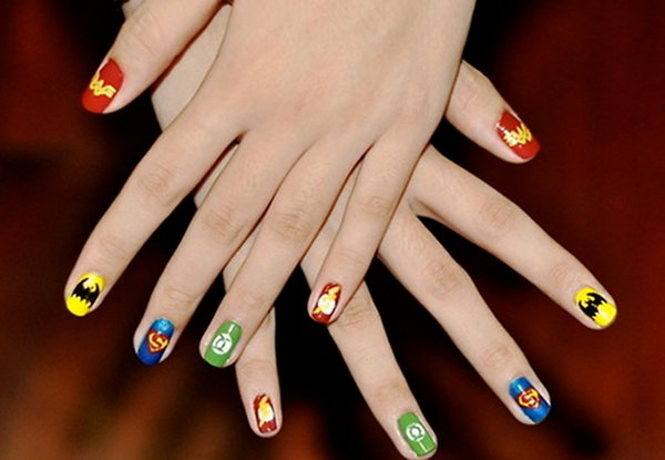 Superhero Fingernail Art